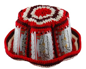 STAG BEER Crocheted Bucket Beer Can Hat - Antiques, Art and
