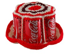 Crocheted Coca-Cola Can Bucket Hat