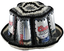 Crocheted Coors Light Beer Can Bucket Hat