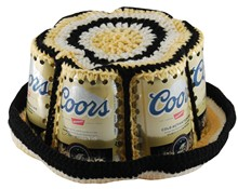 Crocheted Coors Beer Can Bucket Hat