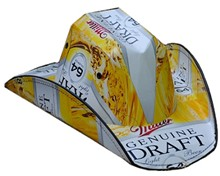 Miller Genuine Draft 64 Beer Cowboy Hat