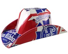 Pabst Blue Ribbon Beer Cowboy Hat