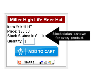 Beer Hat Stock Status